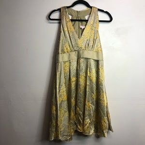 Betsy Johnson 100% silk vintage style floral dress